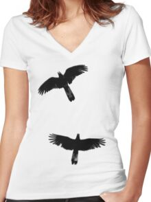 Fly Away With Me Women's Fitted V-Neck T-Shirt