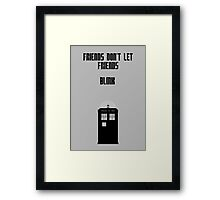 Friends Series - Doctor Who: Inverted Framed Print