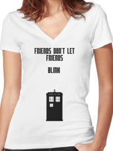Friends Series - Doctor Who: Inverted Women's Fitted V-Neck T-Shirt