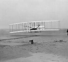 Wright Brothers First Flight by warishellstore