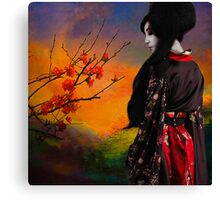 Geisha with Quince Canvas Print