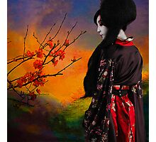 Geisha with Quince Photographic Print