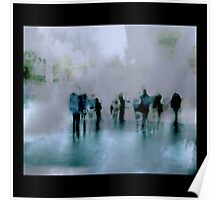 Obscured Mood: People as Abstraction Poster