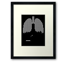 Pixel Lungs Framed Print