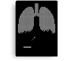 Pixel Lungs Canvas Print