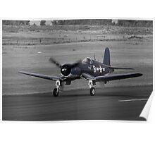 Corsair FG-1D Colour with Monochrome Poster
