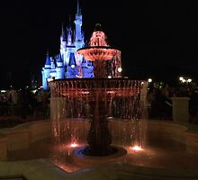 Cinderella Castle at Night by Aut78