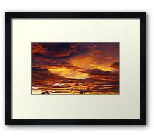 Cloudy sky in the morning Framed Print