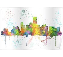 Jersey City, New Jersey Skyline Poster
