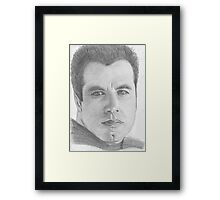 John Travolta Framed Print