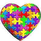 Autism awareness puzzle heart by bmgdesigns