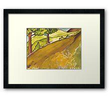 Golden Road Framed Print