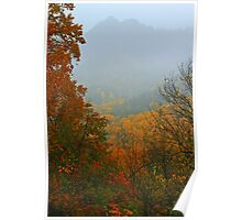 THE CHIMNEY TOPS,AUTUMN MIST Poster