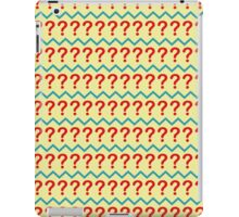 Question Mark Pullover - Pattern iPad Case/Skin