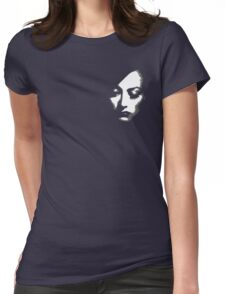 Joan Crawford face Womens Fitted T-Shirt