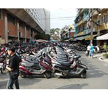 Motorbike parking area, Ben Thanh Market, Ho Chi Minh City Photographic Print
