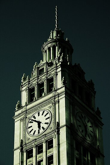 Wrigley Building Tower Clock, Chicago by Crystal Clyburn