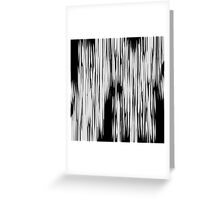 Modern Black & White Abstract Shards Greeting Card