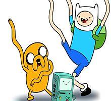 Finn, Jake & BMO Dancing by Earlofjosh