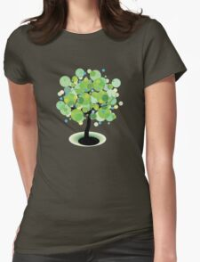 Vector Tree Womens Fitted T-Shirt