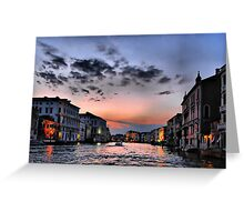 Grand Canal at sunset Greeting Card