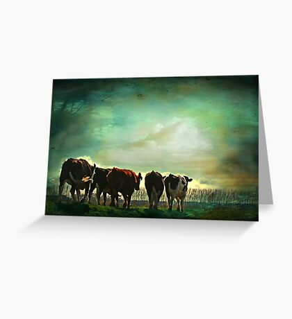 """""""Off to Greener Pastures ..."""" Greeting Card"""