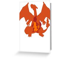 Charmander, Charmeleon + Charizard Evolution Greeting Card
