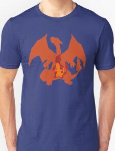 Charmander, Charmeleon + Charizard Evolution T-Shirt