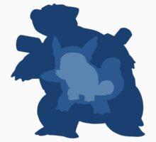 Squirtle, Wartortle + Blatoise Evolution Kids Clothes