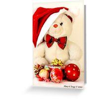 Mr Teddy has a Christmas present Greeting Card
