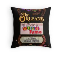 The Orleans Casino Sign in Las Vegas, Nevada Throw Pillow