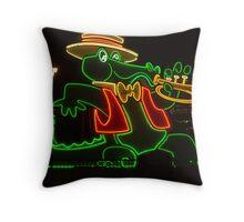 Jazzy Alligator at Orleans Casino, Las Vegas Throw Pillow