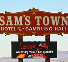 Sam's Town Casino Sign, Las Vegas, Nevada by Henry Plumley
