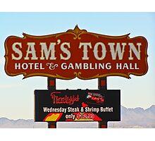 Sam's Town Casino Sign, Las Vegas, Nevada Photographic Print