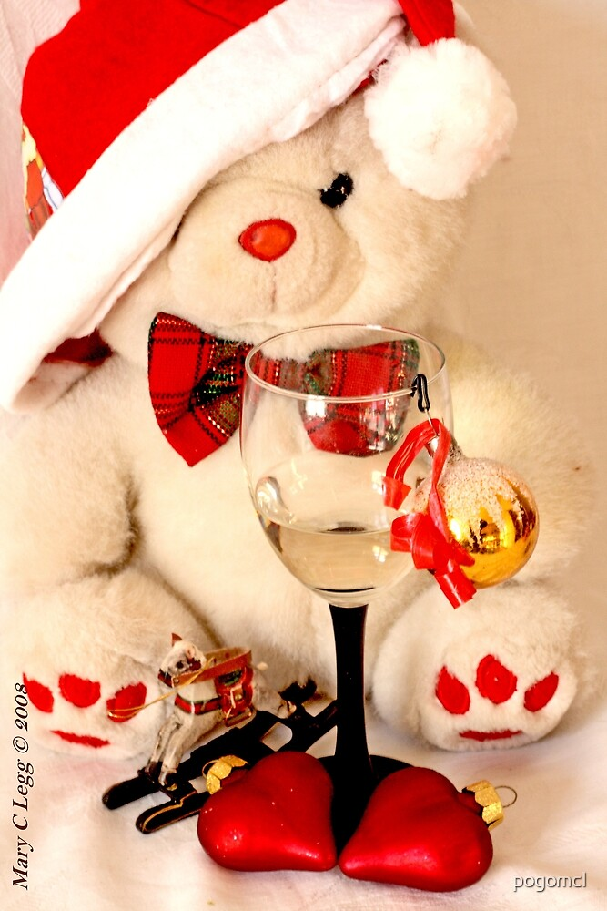 Romantic Christmas for Mr Teddy Bear by pogomcl