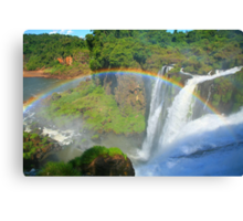Iguazu Rainbow Canvas Print