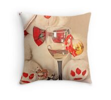 Mr Teddy Bear's romantic  Christmas evening Throw Pillow