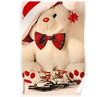 Teddy Bear and rocking horses Poster