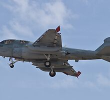 A6 Prowler returning to Nellis Air Force Base by Henry Plumley