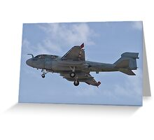 A6 Prowler returning to Nellis Air Force Base Greeting Card
