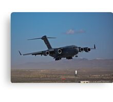 C-17 Globemaster III landing during 2009 Aviation Nation Canvas Print