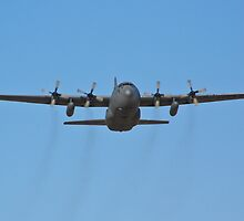 C-130 Hercules leaving Nellis Air Force Base by Henry Plumley
