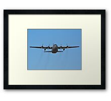 C-130 Hercules leaving Nellis Air Force Base Framed Print