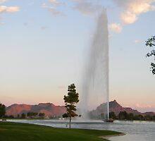 Fountain at Fountain Hills by Leyla Hur