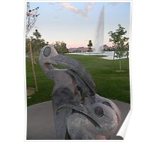 Statue Foreground Poster