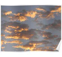 Cherub Clouds Poster
