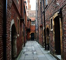 Hampton Court Palace alleyway by Aconissa
