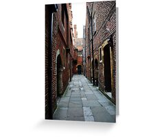 Hampton Court Palace alleyway Greeting Card