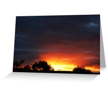 A Frankland River Sunset Greeting Card