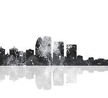 Louisville, Kentucky Skyline - Black and White by Marlene Watson